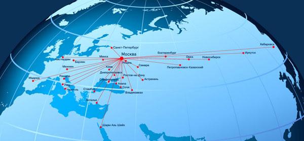 карта авиационных перевозок